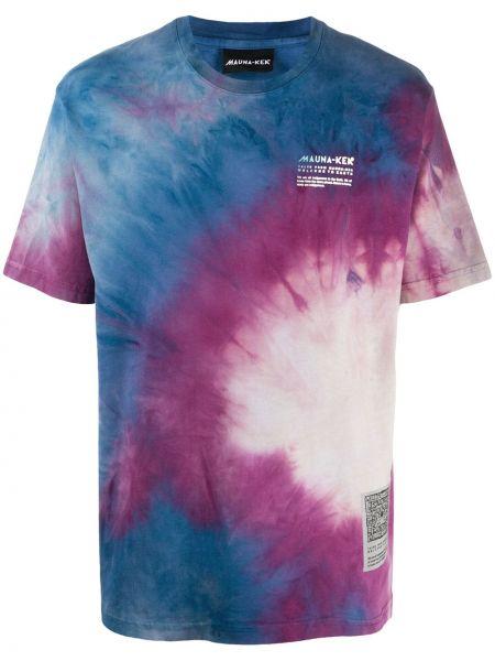 Прямая хлопковая фиолетовая футболка с круглым вырезом Mauna Kea