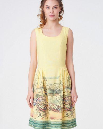 Желтое платье весеннее Ricamare