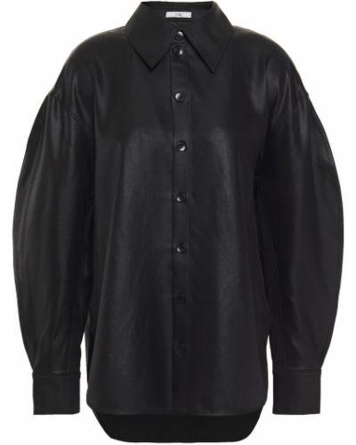 Satynowa koszula - czarna Tibi