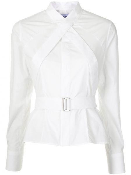 Biała koszula bawełniana z długimi rękawami Ambush