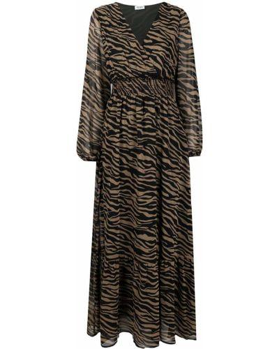 Черное платье макси прозрачное с вырезом Liu Jo