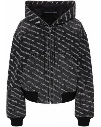 Джинсовая куртка с подкладкой черно-белый Denim X Alexander Wang