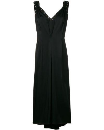 Платье миди с открытой спиной с V-образным вырезом Moschino