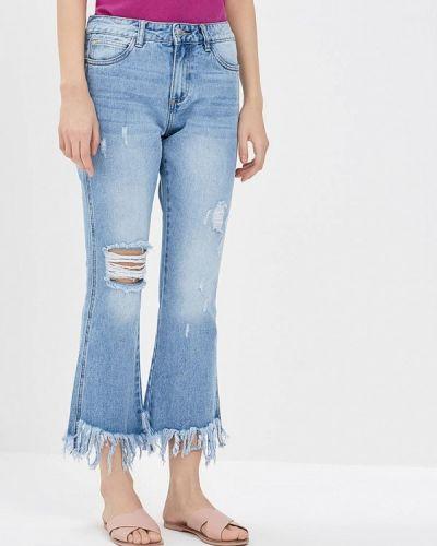 Голубые джинсы рваные Kiss Pink
