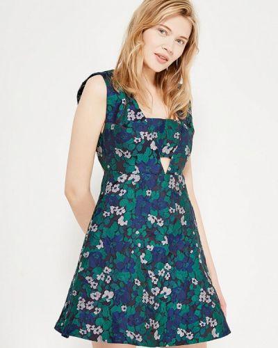 Платье осеннее зеленый Laroom