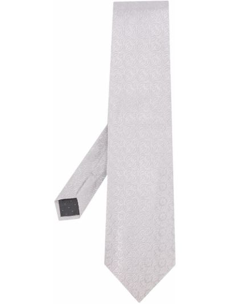 Krawat srebrny Gianfranco Ferré Pre-owned