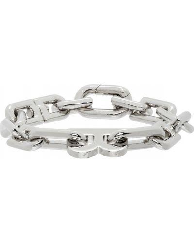 Мерцающий серебряный браслет Balenciaga