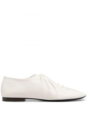 Брендовые кожаные белые туфли Lemaire