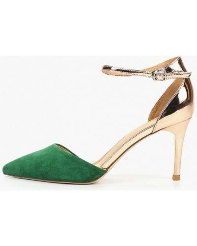 Туфли на каблуке зеленый замшевые Chezoliny