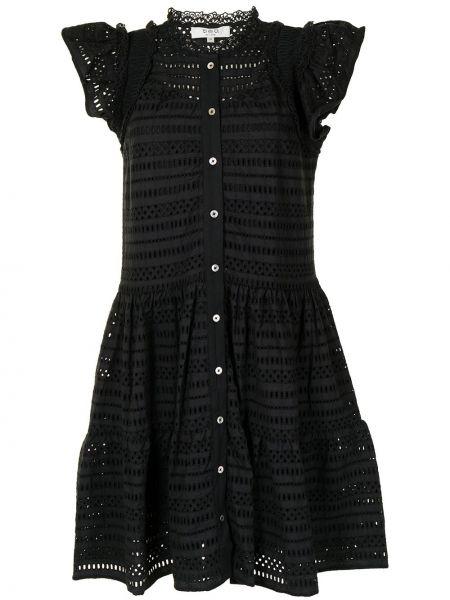 Платье мини короткое - черное Sea