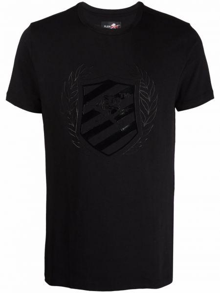 Черная футболка из эластана Plein Sport
