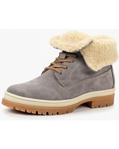 Ботинки осенние замшевые Tamaris