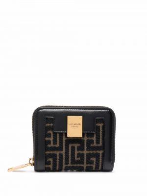 Czarny złoty portfel Balmain