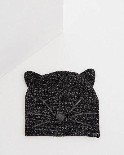 Черная шапка осенняя Karl Lagerfeld