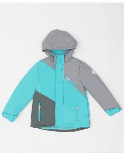 Утепленная синяя куртка на молнии Button Blue