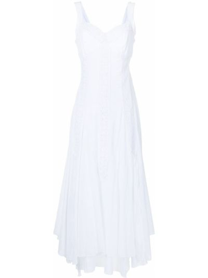 Платье макси длинное - белое Charo Ruiz Ibiza