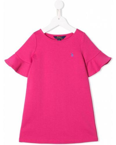 Платье с рукавами короткое розовый Ralph Lauren Kids