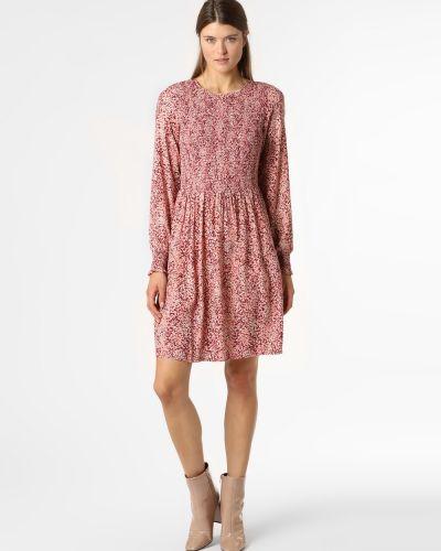 Czerwona sukienka z printem Moss Copenhagen