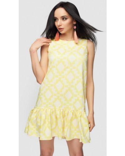Платье весеннее желтый 0101 Brand