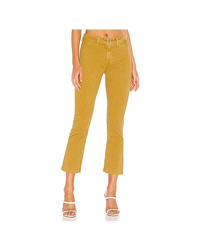 Укороченные джинсы с заплатками с накладными карманами Paige
