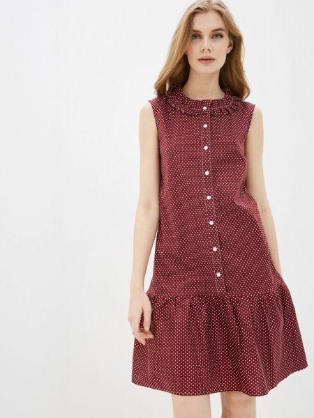 Платье бордовый прямое Gabriela