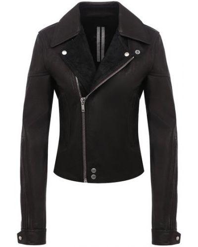 Кожаная куртка с подкладкой из вискозы Rick Owens