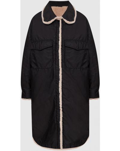 Черное пальто двустороннее Simonetta Ravizza