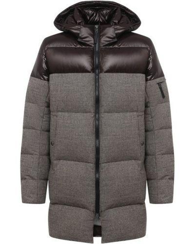 Шерстяная коричневая куртка с капюшоном Bogner