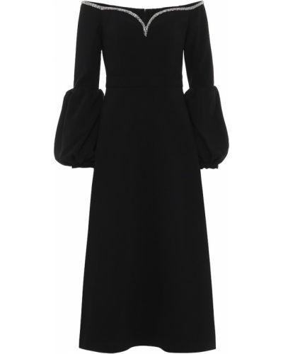 Платье миди через плечо с открытыми плечами Self-portrait