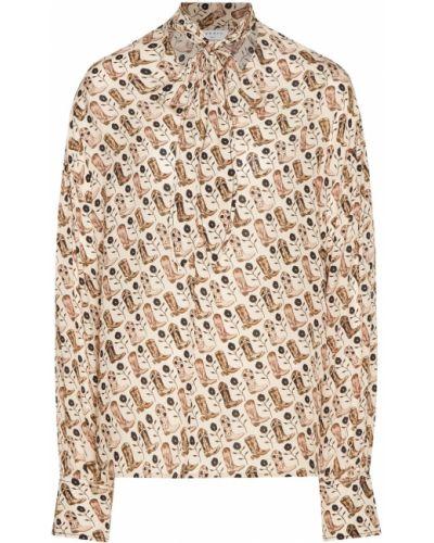 Блузка с длинным рукавом прямая из вискозы Sandro