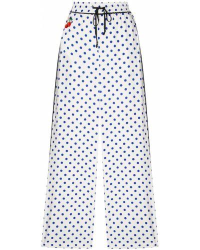 Свободные брюки в горошек с вышивкой Essentiel Antwerp