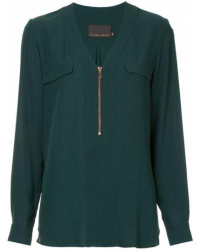 Блузка с длинным рукавом в полоску с V-образным вырезом Ginger & Smart