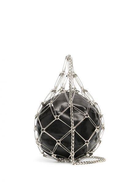 С ремешком кожаная черная сумка через плечо на молнии Comme Des Garçons Noir Kei Ninomiya