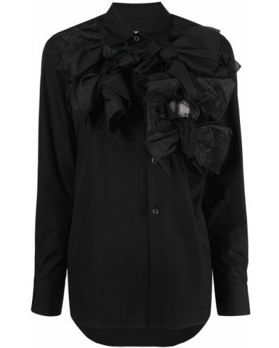 Рубашка с длинным рукавом - черная Comme Des Garçons