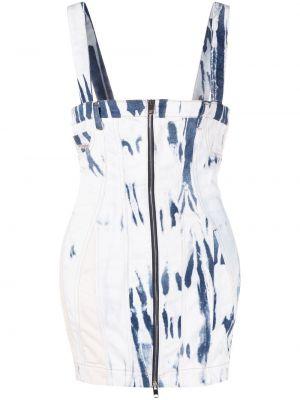 Синее платье мини с вырезом без рукавов Diesel