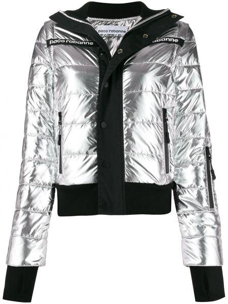 Куртка леопардовая серебряная Paco Rabanne
