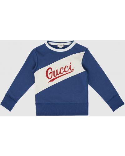 Синяя толстовка Gucci
