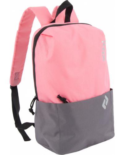 Брендовый розовый рюкзак с карманами Kdx