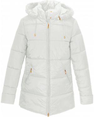 Стеганая куртка - белая Bonprix