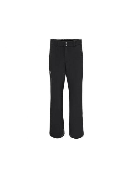 Черные теплые спортивные брюки на молнии на тинсулейте Descente
