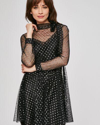 Платье мини на пуговицах с длинными рукавами сетчатое Silvian Heach