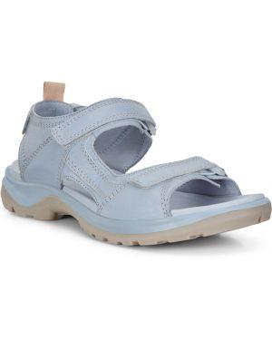 Трекинговые кожаные сандалии на липучках с подкладкой Ecco