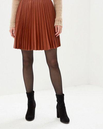 Кожаная юбка коричневый United Colors Of Benetton
