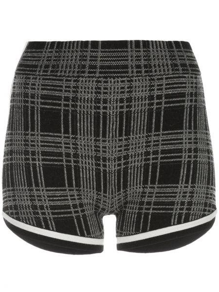 Czarne krótkie szorty wełniane vintage Nagnata