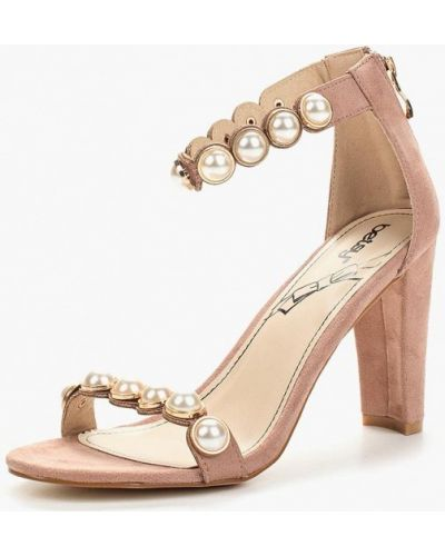 Босоножки на каблуке велюровые Betsy