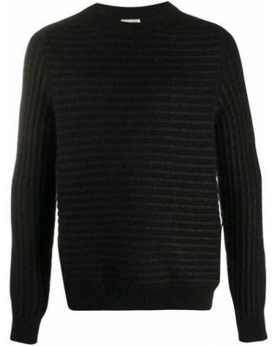 Długi sweter wełniany w paski z długimi rękawami Saint Laurent