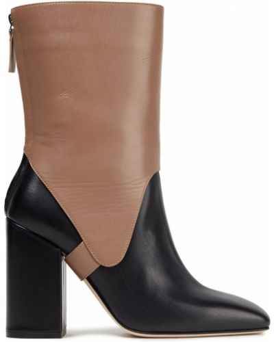 Ankle boots skorzane na obcasie Victoria Beckham