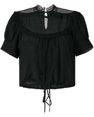Блузка из фатина с широкими рукавами Andrea Bogosian