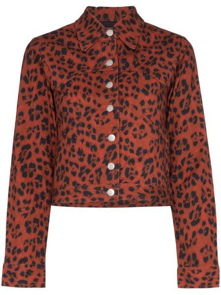 Черная джинсовая куртка с манжетами Miaou