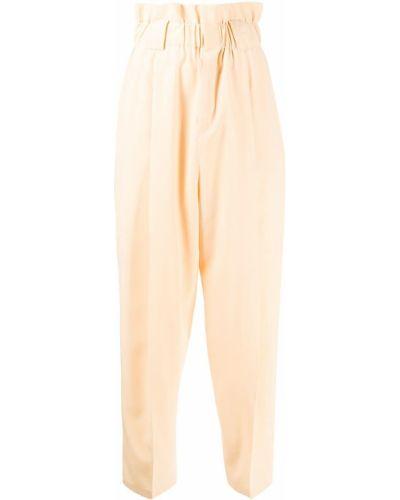 Коричневые шелковые шорты Fendi